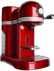 Red KitchenAid Nespresso Espresso Machine