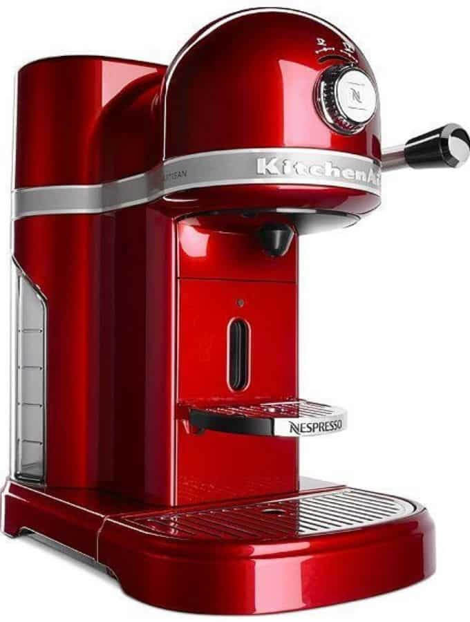Image of a red KitchenAid Nespresso.
