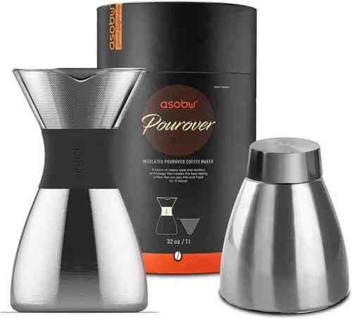 asobu silver insulated coffee maker