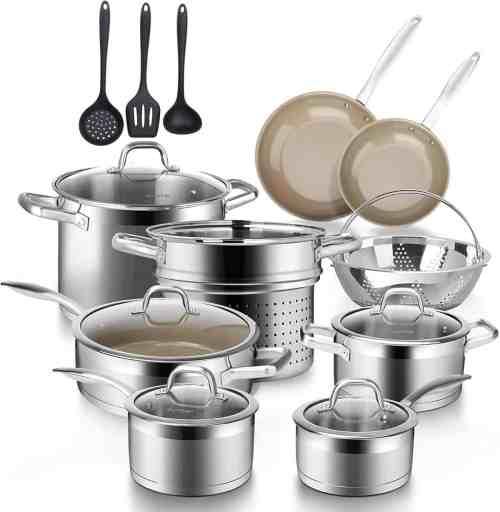duxtop 17pc induction cookware set