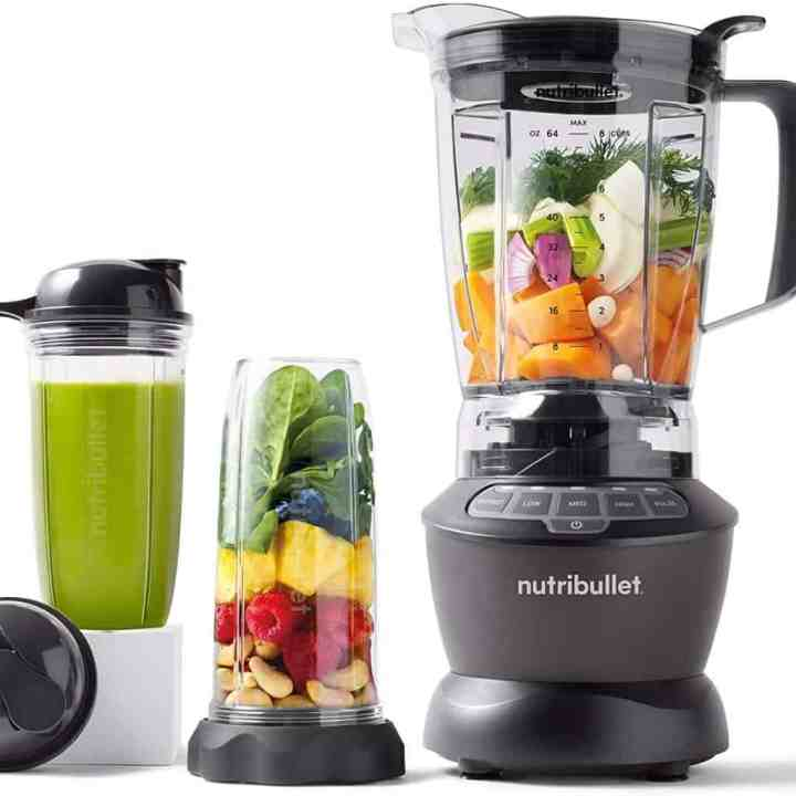 nutribullet blender against a white background