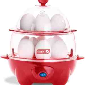 DASH RAPID EGG COOKER IN RED