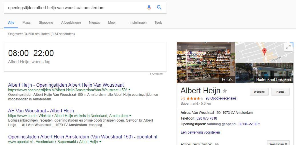 ah local search albert heijn