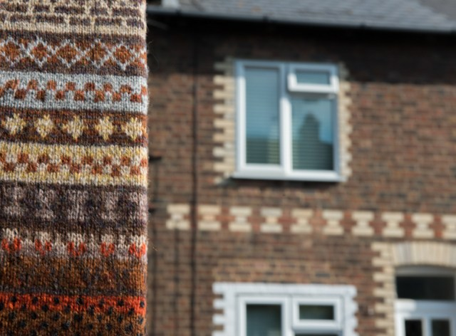 AND I LIKE TO GATHER FROM FAMILIAR STREETS IDEAS TO KNIT INTO HAND-KNITTED TREATS...