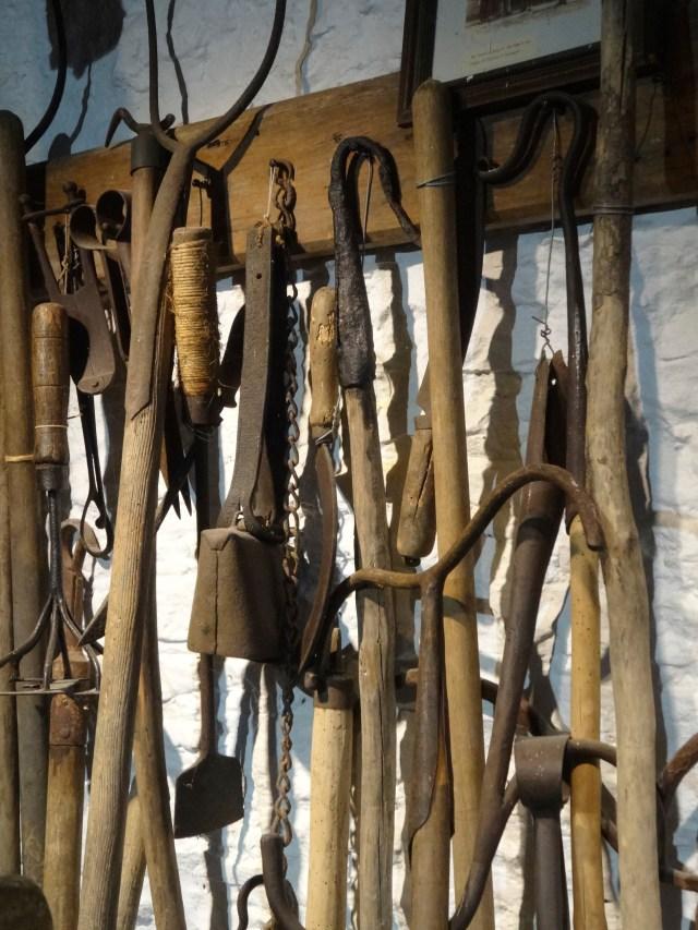 Vintage farming and shepherding tools, Cotswold Woollen Weavers