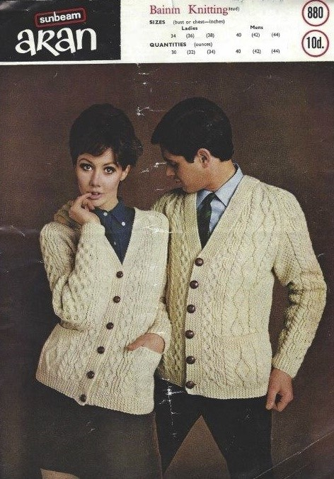 Vintage aran knitting pattern