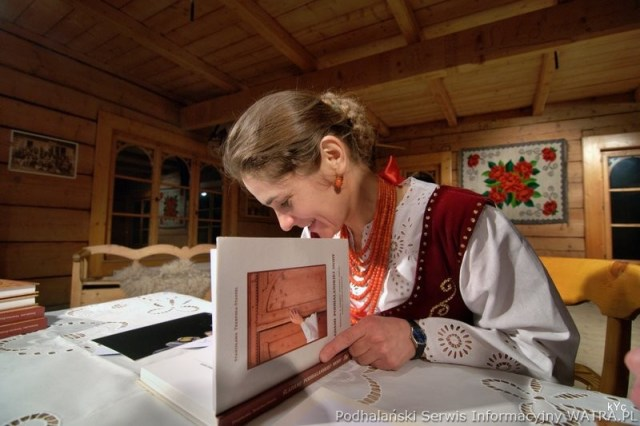 Stanisława Trebunia-Staszel PhD, signing copies of her book, photo found here
