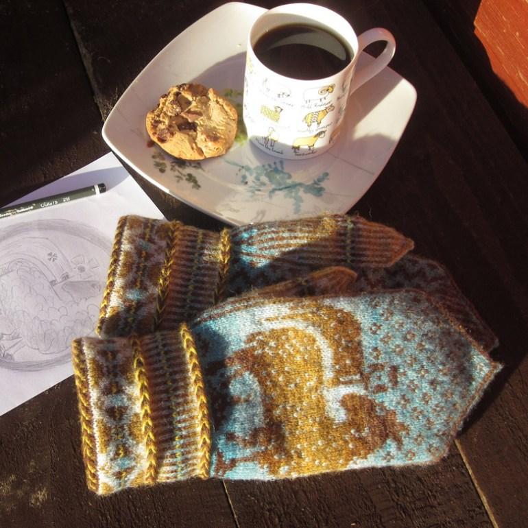 Aurelie's mittens in J&S wool