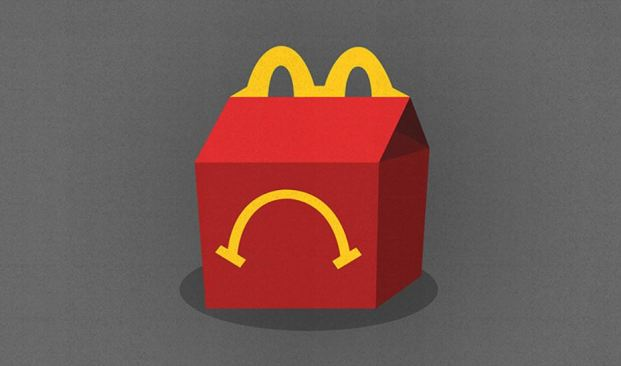 Image of McDonald's unhappy meal to symbolise their company mission statement and how they could improve their brand development strategy