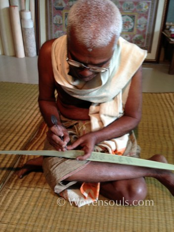 The art of palm leaf painting
