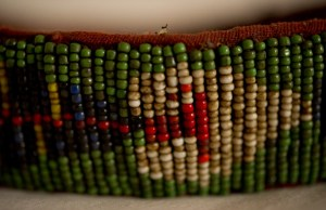 ANTIQUE DAYAK IBAN BEAD HEADDRESS