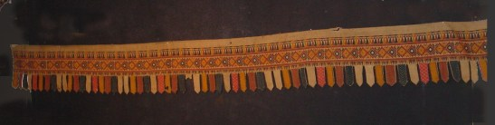 ANTIQUE SUMATRA WEAVING CEREMONIAL BANNER