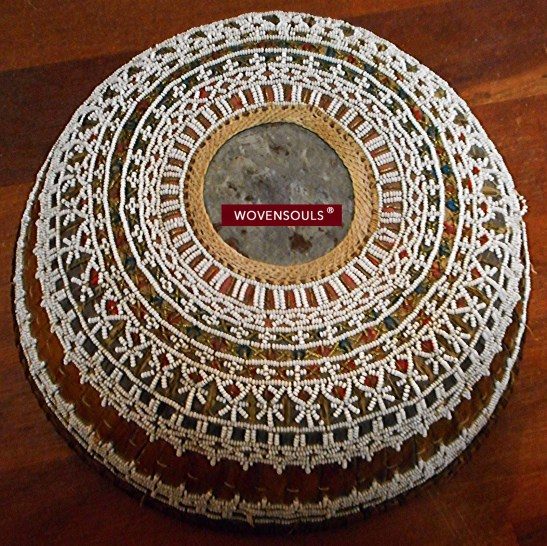 a AFO-894 OLD BALI LONTAR CEREMONIAL BEADED BASKET 01.jpg