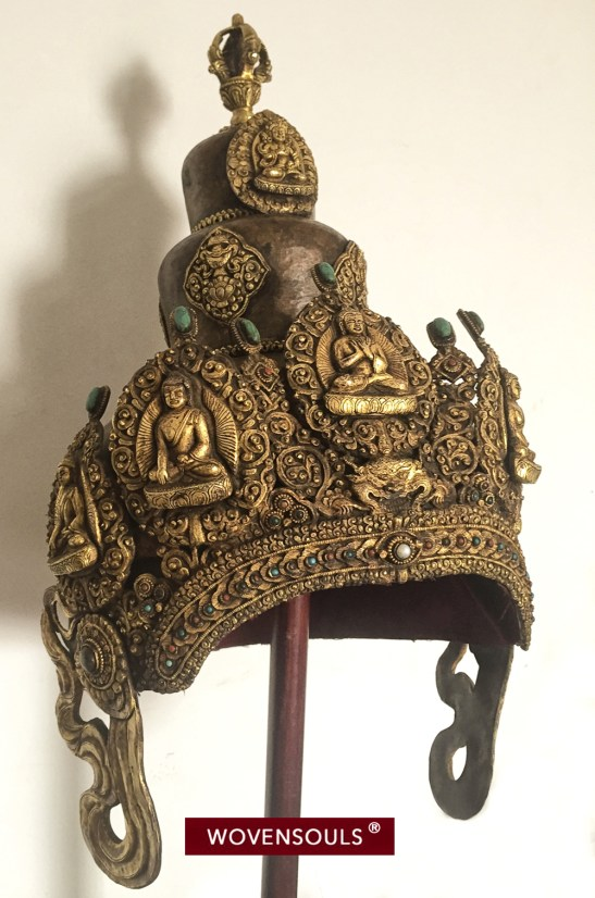 Buddhist Tantric Priest's Mukha or ceremonial Crown