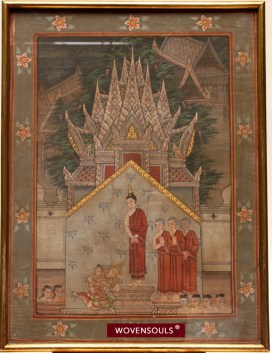 AFP-1013 ANTIQUE THAI AYUTTHAYA PAINTING