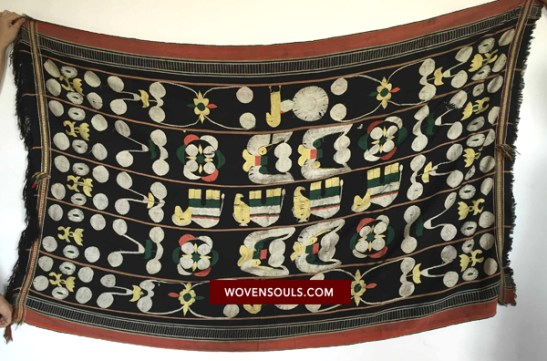ANTIQUE TEXTILES - NAGA SHAWL - ANGAMI - TEXTILE ART