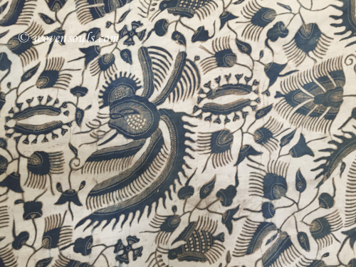 ANTIQUE JAVA BATIK ON SILK - HAND DRAWN
