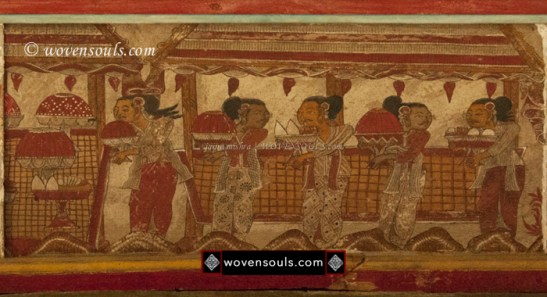 KERTA GOSA PAINTINGS BALI INDONESIA KAMASAN