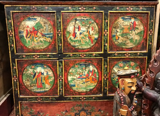ANTIQUE BUDDHIST PAINTINGS ON BOXES