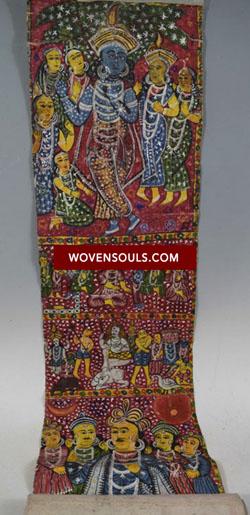 Antique Cheriyal Painting Scroll