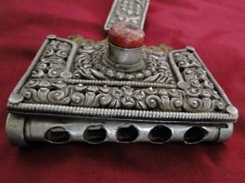 AJH-394 ANTIQUE SILVER TIBETAN KHAMPA BULLET CASE