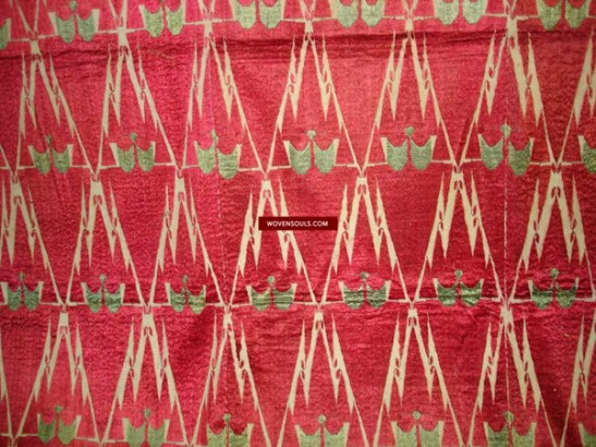 ANTIQUE WEDDING THIRMA TEXTILE WITH RARE KHANJAR