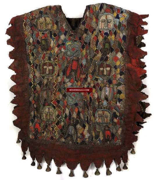 ANTIQUE YORUBA SHANGO TUNIC BEADED