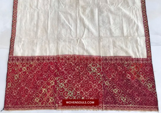 wovensouls 1350 ANTIQUE SWAT VALLEY SHAWL WITH RARE EMBROIDERY