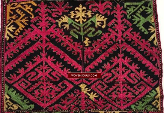 1351 Antique Kohistan Embroidery Textile Panel Masterpiece
