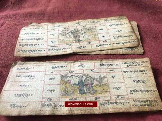 Antique Tibetan Zodiac Manuscript