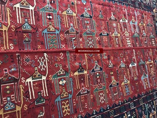 Camel Caravan Caucasian Verneh Sileh flatweave
