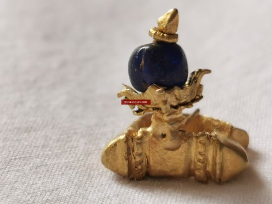 Ancient Antique Gold Majapahit Javanese Bird Ring Earring