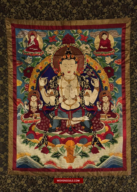 1406 ANTIQUE TIBET EMBROIDERY