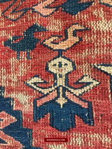 Antique Dragon Carpet Soumac Sumac Sumakh Fragment from Azerbaijan