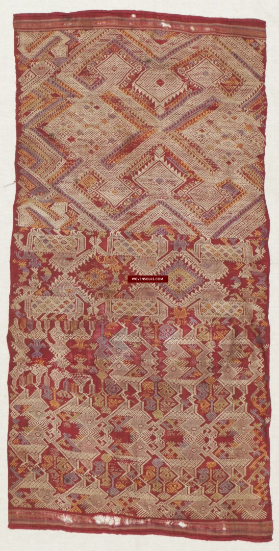 1462 Rare Antique Laotian Pha Biang Weaving Cloth Textile 16