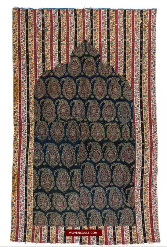 1471 Antique Kashmir Prayer Mat