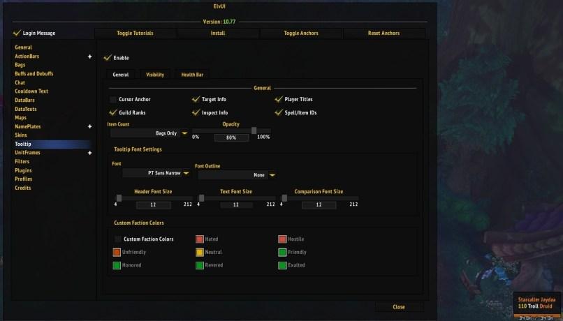 Elvui Font Player Frame