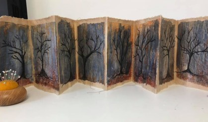 Lesley Maw. My Unfolding Story using Amanda Hislop's tutorial in WOW Book 4. I think I want to add hard covers but generally pleased with the results!