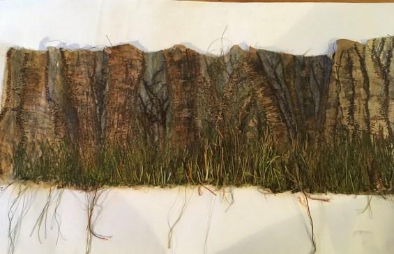 Danuta Petrie. Trees based on Amanda Hislop's section. A bit heavier and darker than Amanda's.