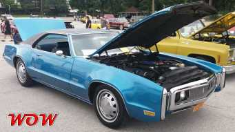 Blue Oldsmobile Toronado