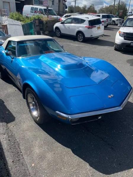 71 Chevrolet Corvette Convertible Blue 5