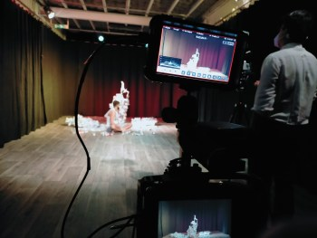 stage and camera