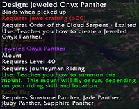 Jewelcrafting Panther Mounts (4/5)