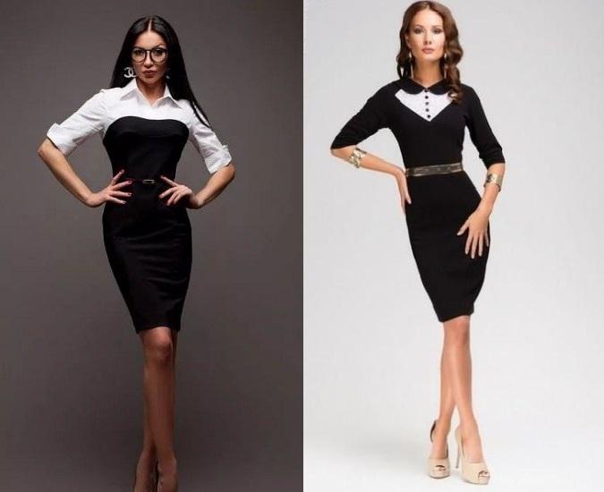 811ded03a01 Derek Lam представил платье с черной вставкой на талии – отличное решение  для тех