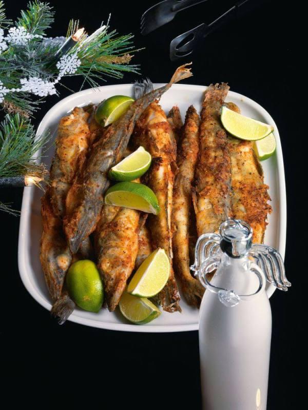 Ледяная рыба в панировке из паприки и лимонной цедры ...