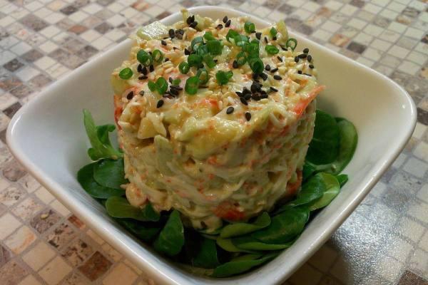 Салат из авокадо и крабового мяса рецепт 👌 с фото ...