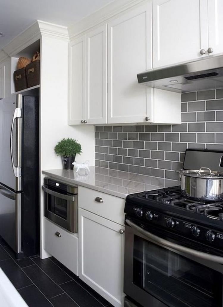 40+ Beautiful Grey Kitchen Backsplash Ideas on Remodel:ll6Wzx8Nqba= Small Kitchen Ideas  id=70049