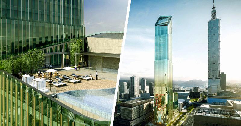 臺灣綠竹筍結合希臘石柱!臺北信義區新地標Taipei Sky Tower打造首座雙品牌飯店高樓 | La Vie