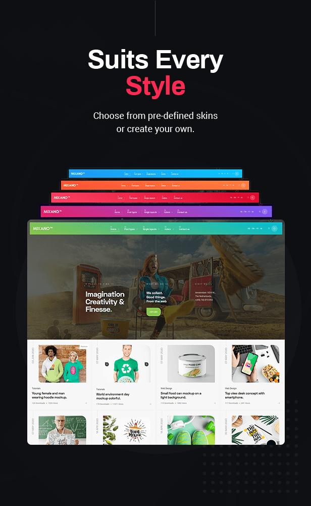 Mixano - Minimal WordPress Theme for Freebies & Blogging - 3