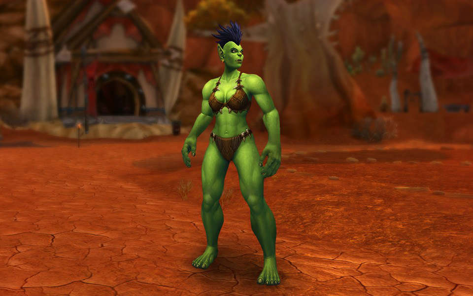 WoW Female Orc New Model Preview WoW Leveling Up